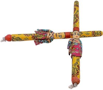 Little India Set Of 5 Puppet Crafted Designer Navratri Dandiya 1015 Dandia Sticks