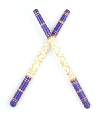 Sanjog Sankheda WoddenFor Navratri Celebrations For Garba-Pack 1 Pair Dandia Sticks(Multicolor)