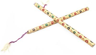 Little India Golden Meenakari Ethnic Navratri Special Dandiya 103 Dandia Sticks(Gold)