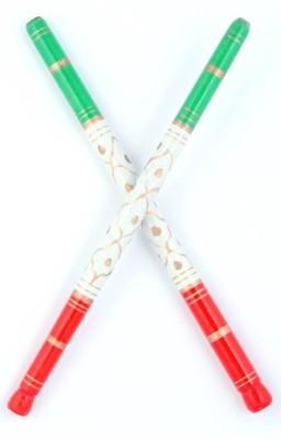 Sanjog Sankheda wooden- Pair 6 Dandia Sticks(Multicolor)