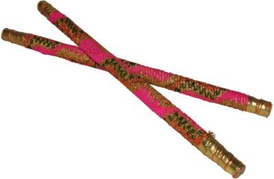 Dakshcraft Handmade Wooden with Decorative Lace Dandia Sticks