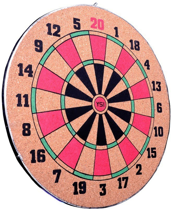 YSI YSI Dart Board Set 12 Inch With 3 Darts Steel Tip Dart(Pack of 1)