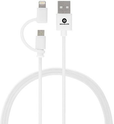 Dcables 2 in 1 Lightinig Micro USB Cable USB9066 Sync & Charge Cable