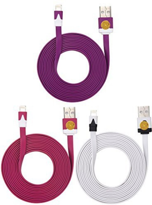 Qable Powerz QA2132 Lightning Cable(Multicolour)