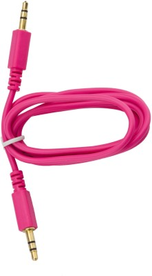 Stok Pink Car Stereo/Aux Cable-3.5mm gold Plated Jack - 3meter AUX Cable