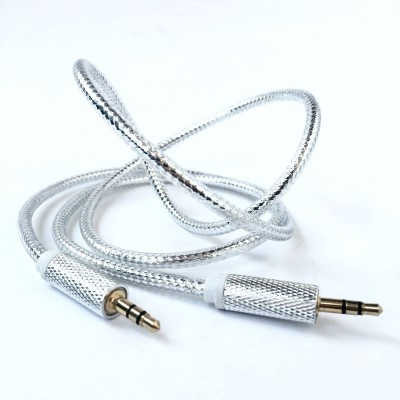 Fit Fly Silver Shine AUX Cable