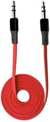 Speedwav Stereo Wire Cord AUX Cable(Red)