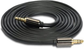 Wellcare Gold Plated Aux Cable For Xolo Q1100 - Black AUX Cable