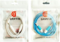 Griffin Electronics - Griffin Blue and White AUX Cable(Blue, White)