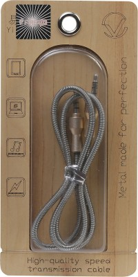 FIRETALK METAL SERIES TANGLE FREE INDESTRUCTABILE HIGH-QUALITY SPEED AUX Cable