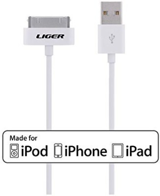 Liger MFI-3FT30P-WT Sync & Charge Cable