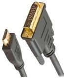 Microware HDMI Male To DVI HDMI Cable (B...