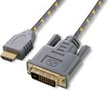 Nextech High Speed DVI to HDMI Braided D...