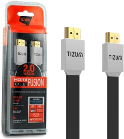 TIZUM Fusion 2.0 Version -Gold Plated Supports High Speed Ethernet, 3D, 4K, (6.5 Feet/2 Meters) HDMI Cable(Multicolor)