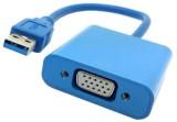 Microware USB 3.0 To VGA HDMI Cable (Blu...