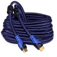 Microware HDMI Nylon Breaded 20 Meter HDMI Cable(Black)