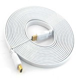 PAC 5 Meter FLAT HDMI Cable (White)