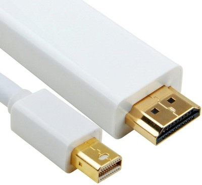iConnect World Premium Quality 1.8 Meter Mini Display Port Thunderbolt HDMI Cable Adapter 1 Year Warranty Patch Cable