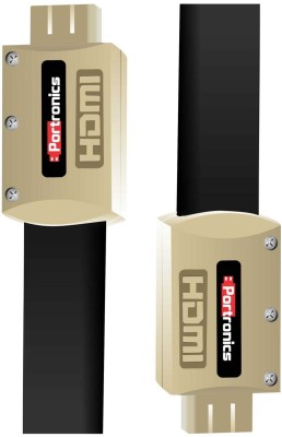 Portronics Full HD 1080p & 3D 24K Gold Plated HDMI Cable