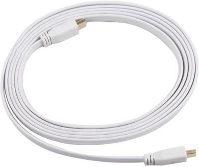 Indiashopers Flat 3m HDMI 1.4 Version HDMI Cable