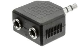 De TechInn 3.5 mm Male To Two 3.5 mm Female Stereo Audio Y Splitter Earphone Headphone Adapter