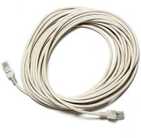 99 Gems Rj45 Type Connector, 10 Mtr LAN Cable(Off White)