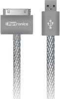 Portronics Wrapped 4S Lightning Cable(Grey)