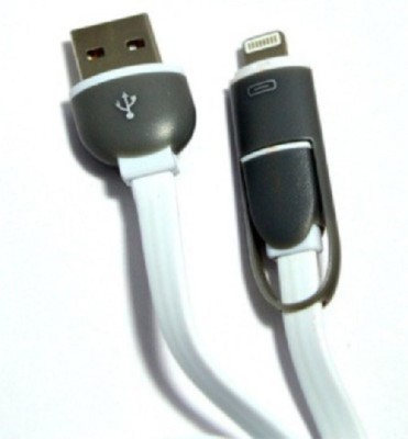 BKT 2 In 1lightening And V8 Data Cable Lightning Cable