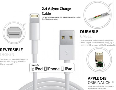AW High Speed Charge and Sync Usb for Iphone 6 Plus Lightning Cable