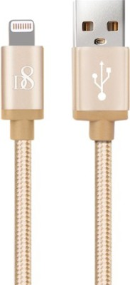 D8 Rugged Extra Tough Unbreakable Apple MFi Certified Braided HighSpeed Charging & Sync Lightning Cable