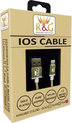 R&G Design For Future Gold Plated IOS Lightning Cable