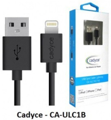 Cadyce CA-ULC1B-for Iphone 5-5s-6-6plus - Mfi Certified Lightning Cable