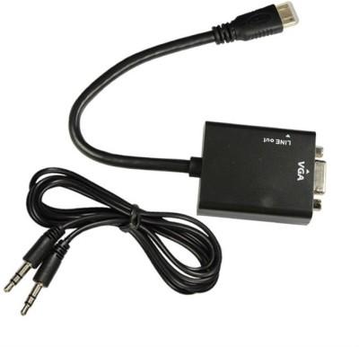 Jinali Mini HDMI Male to VGA Female with Sound HDMI Cable