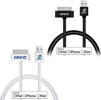 IXCC i-mfi-3ft-30pin-white-black-02 Sync & Charge Cable