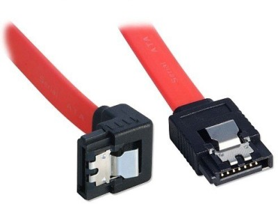 Storite SATA 3 cable with Locking Latch straight to Right Angle 90 Degree (1 Pack Sata 3 Data Cable) Power Cord