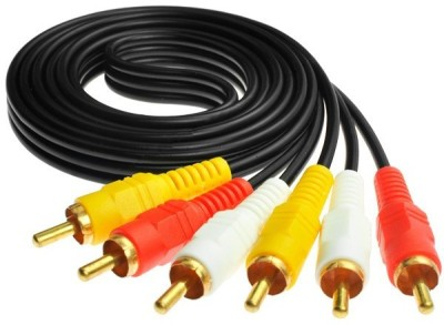 Raj Gold Plated 1.5 meter long HQ 3 RCA Audio Video Cable