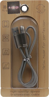 FIRETALK METAL SERIES TANGLEFREE INDESTRUCTABILE WITH CAP HIGH-QUALITY SPEEDTRANSMISSION Sync & Charge Cable