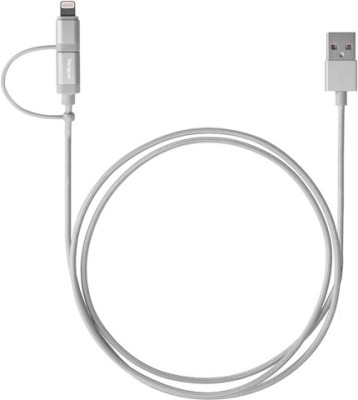 Targus ACC99505AP Aluminium Series 2-in-1 Micro USB & Lightning MFi Certified Sync & Charge Cable