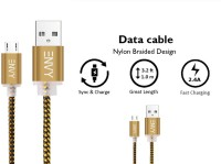 Envy Micro USB Cable 2.4 Amp USB Cable(Gold)