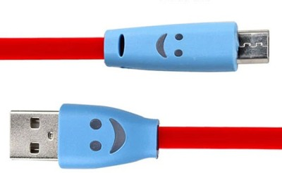 Dhhan Stylish Smiley Red Flat Micro data Cable USB Cable