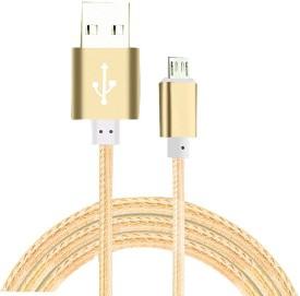 Click Cases NylonCableGolden363 USB Cable(Golden)