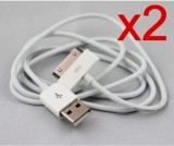 Adiva PACK OF 2 USB CABLE FOR APPLE IPHO...
