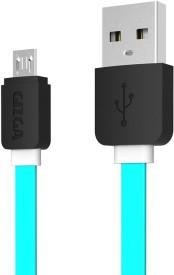 Gizga Essentials Tangle-Free (1 meter/ 3.2 Feet) Fast Charging USB Cable(Aqua Green)