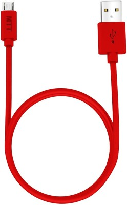 MTT 1.2 Meter Fast Charging Soft Grip USB Cable(Red)