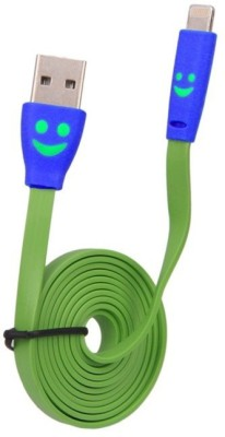 YourDeal 160114 Lightning Smiley Face LED light Flat Noodle USB Cable
