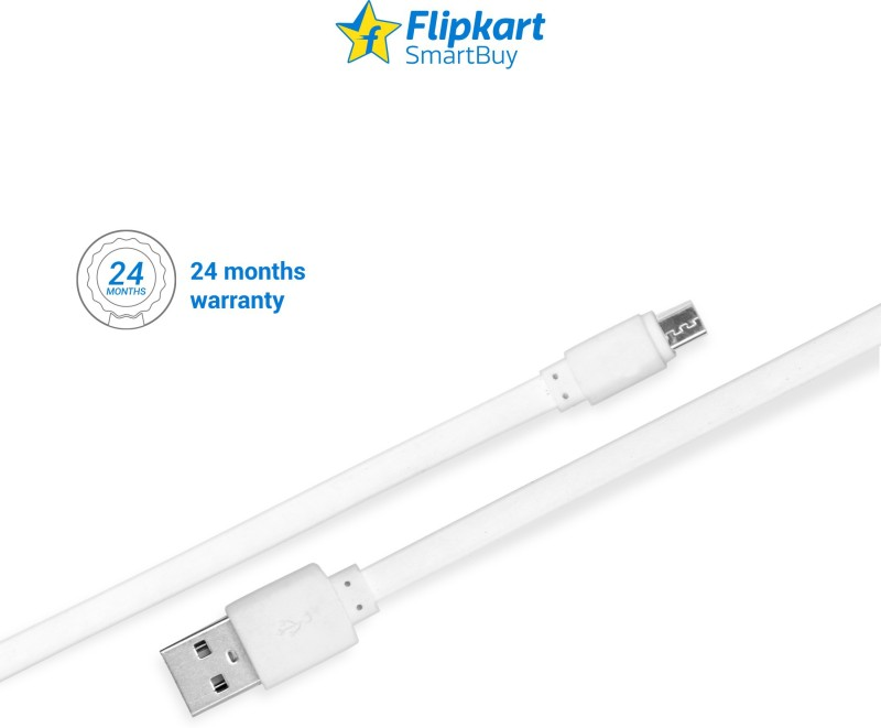 Flipkart SmartBuy Flat Charge & Sync USB Cable(White, 1 Mtr)