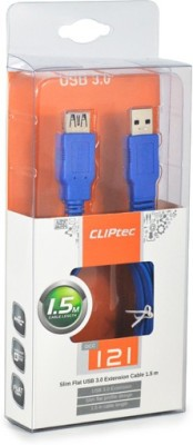 Cliptec OCC121BL Slim Flat USB Cable