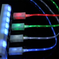 99 Gems V8 full led charging cable USB Cable(Multicolor)