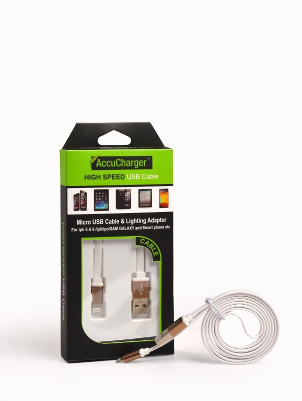 Accucharger IIP-FNC-203 Lightning Cable(White)