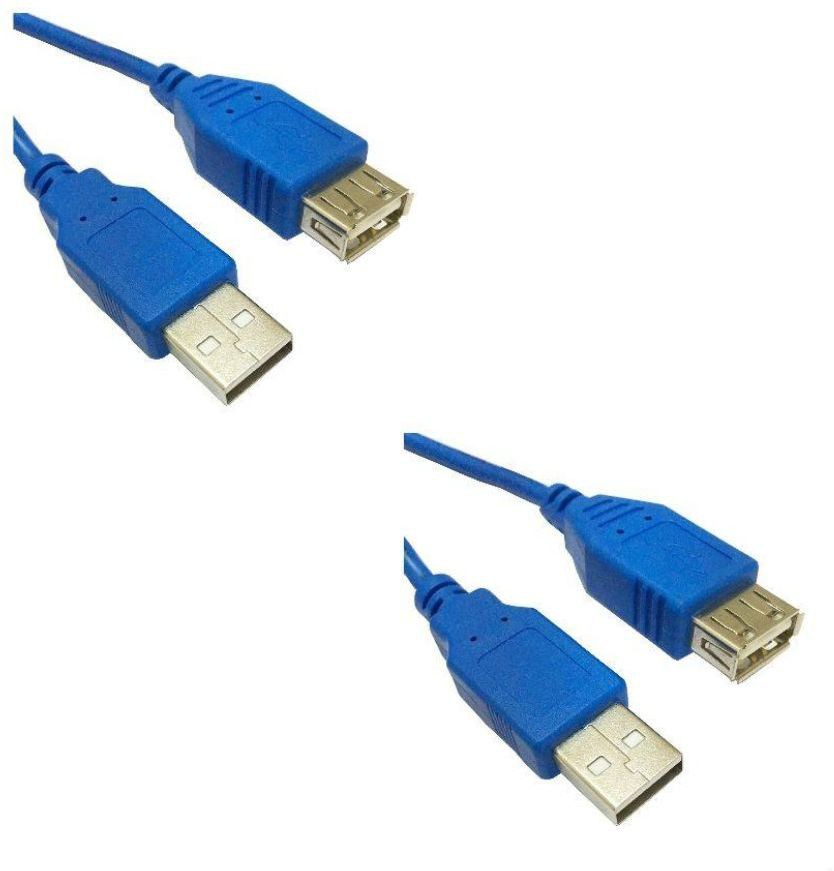Storite 2.0 Male A To Female A Extension USB Cable(Blue)